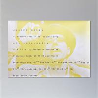 Joseph Beuys / art intermedia 5. oktober 1971 - 30. oktober 1971 Poster
