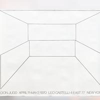 Don Judd Exhibition Poster, Leo Castelli Gallery 1970