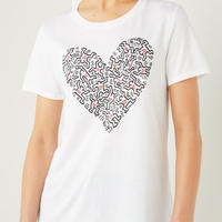 Benetton Keith Haring T-shirt Heart White