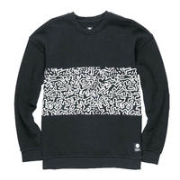 ELEMENT  Keith Haring  Panel Crew SweatShirts Black