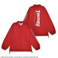 Keith Haring × THRASHER Coach Jacket Red NCJ19