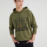Benetton Keith Haring Hoodie Dj Dog Khaki