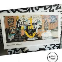 No.45 Framed Poster Basquiat Triptych Size:2XL
