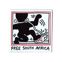 Keith Haring Rectangular Magnet  (Free South Africa)