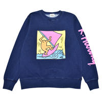 Nouno Keith Haring Indigo Denim  Sweat Crew