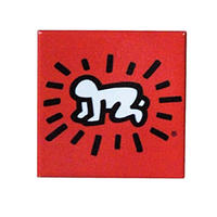 Keith Haring Rectangular Magnet ( Radiant Baby ) Red
