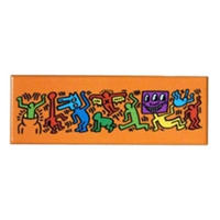 Keith Haring Long Magnet (Figures ) Orange