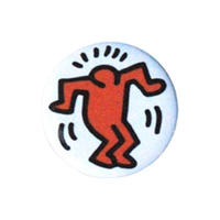 Keith Haring Round Magnet (Dancing Figure Solo)