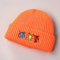 CA4LA x Keith Haring KNITCAP CKH00044 ORANGE