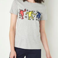 Products Benetton Keith Haring T-shirt Dancer Dog Gray