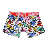 Clothmania x Keith Haring  メンズ ボクサーパンツ (Base Made UW KH011 White)