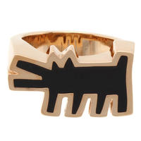 Keith Haring Barking Dog Ring GOLD