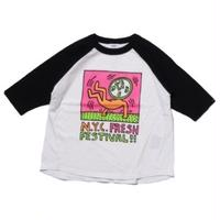 Groovy Colors KIDS Keith Haring NYC FRESH ラグラン Tee