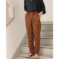 pattern relax pants (brown)