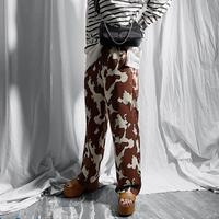 cow print easy pants(light brown)