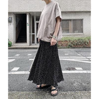 【ottilie】dot pleated pants (black)