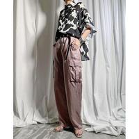 cupra cargo pants(smoke pink)