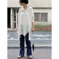 【comming soon】gauze damage hoodie   (off white)