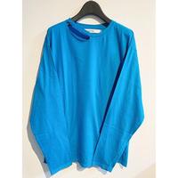 damage long T-shirts(blue)