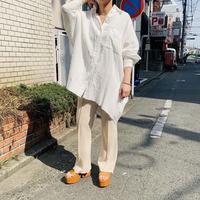 gauze big shirt(off white)