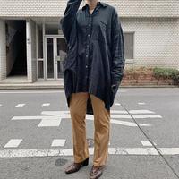 gauze big shirt(black)