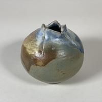 花器(今泉ゆう作/つぼみ)茶系【中】商品番号:TB-0201