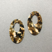 イエロー大理石 楕円型〈2コ〉