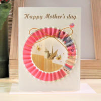 母の日カード 丸輪 ピンク