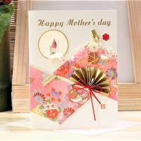 母の日カード 小窓鶴 ピンク