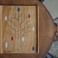 木のイラストトレイ