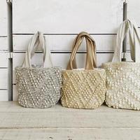 【1点もの】Bobble mini tote bag(トートバッグ)  ライトグレー