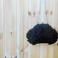 【オーダー品】Sango手編みポシェット(Lサイズ)ブラック