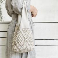 【1点もの】Bobble One handle bag(ワンハンドルバッグ)  ナチュラル