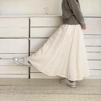 【予約販売】CA & Co. リネンデニムフレアースカート