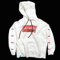 PASSION RED【BOX PULL HOODIE WHITE】