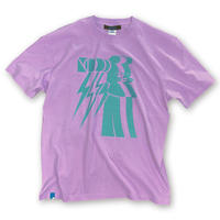lINED UP MOAI【T-SHIRT LAVENDER】