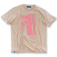 lINED UP MOAI【T-SHIRT SAND BEIGE】