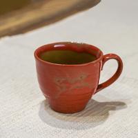 松永窯の赤馬のコーヒーカップ