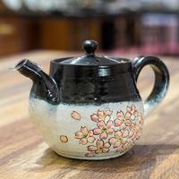 半谷窯の桜紋のティーポット