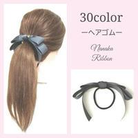 【30色】たらりんダブルリボンヘアゴム[C1]