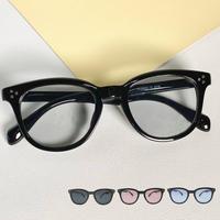 【ウェリントン  サングラス】5colors/UV99%cut/Ladies'・Men's
