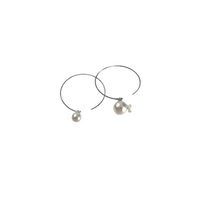 #47-2 百花 Goldfish Pearl Hoop Earrings Large