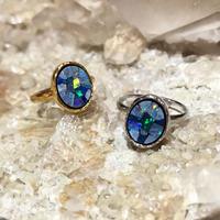 Mosaic opal ring