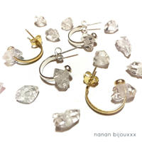 Herkimer diamond pierce charm (set)