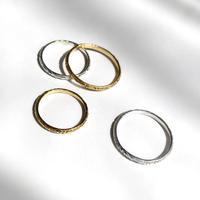 【受注商品】K18 Pattern ring