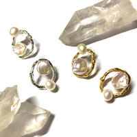 【受注商品】Uneven pearl pierce/earring set
