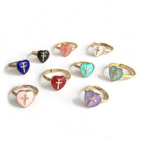 Heart cross ring  #2~5