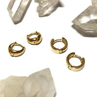 Brass hoop pierce (Set) [K18PD]