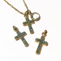 Diamond cross charm <Blue>