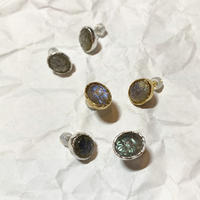 Carving labradorite pierce (set)
